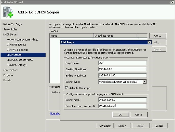 Step by Step Guide to install DHCP role and configure
