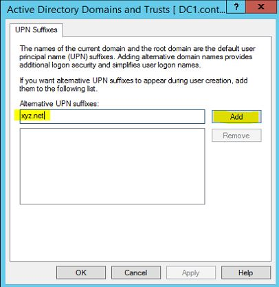 How to Configure Multiple User Principal name (UPN) suffixes