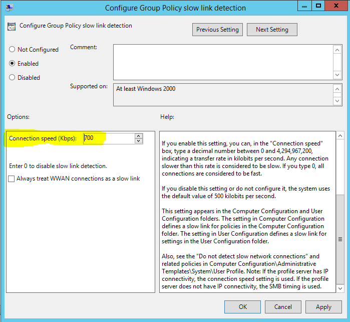 Group Policy Slow Link Detection - RebelAdmin com