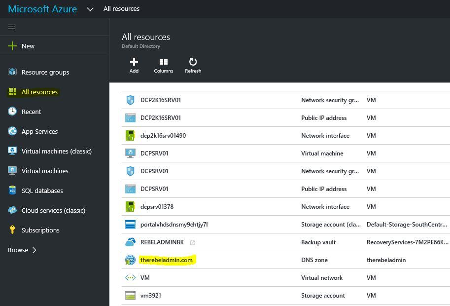 Azure DNS - RebelAdmin com
