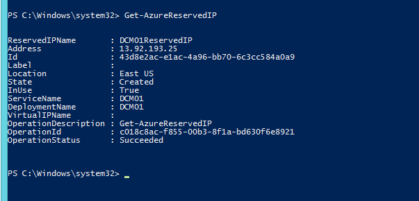 how to assign static ip address in azure