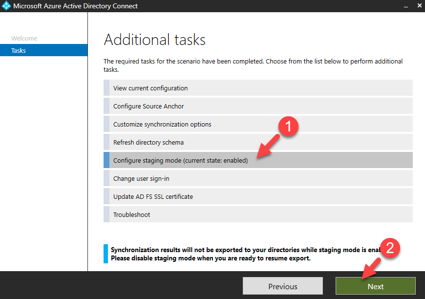Azure AD Connect Staging Mode - RebelAdmin com