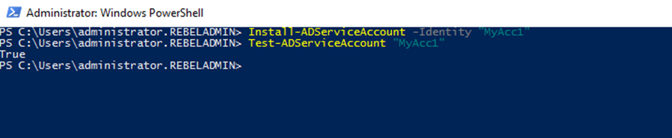 Active Directory Managed Service Accounts (PowerShell Guide
