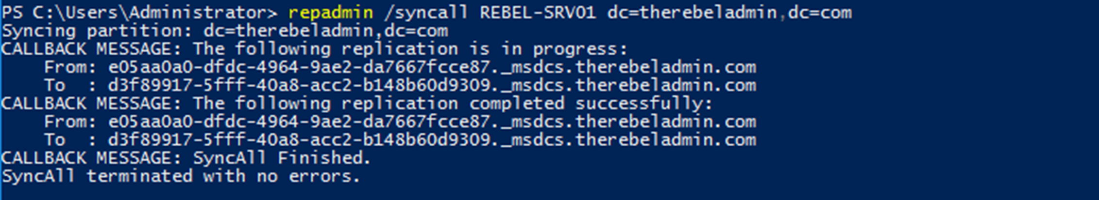 Troubleshooting Active Directory Replication Issues (PowerShell