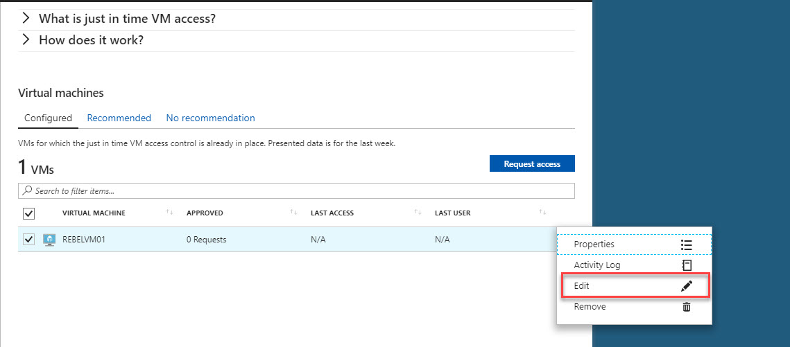 Step-by-Step Guide to setup Just-in-Time VM Access in Azure