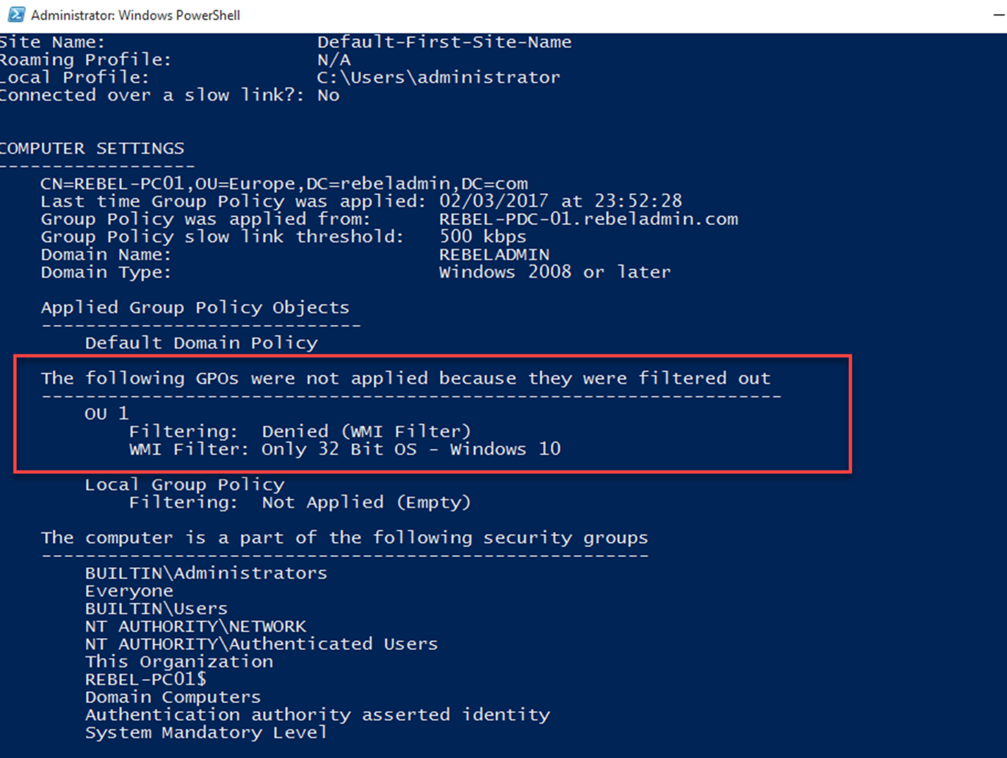 Group Policy: WMI Filters in a nutshell - RebelAdmin com
