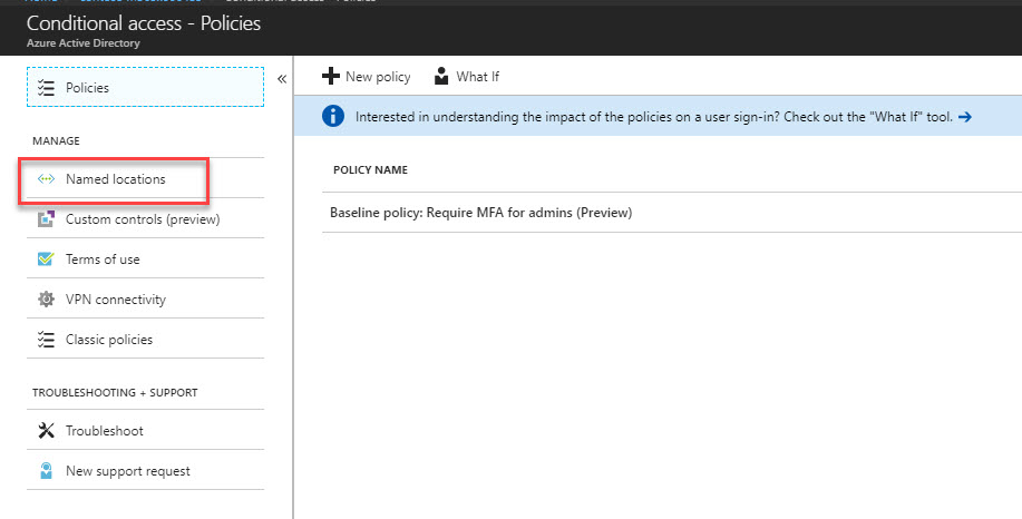 Step-by-Step Guide to configure location-based Azure conditional