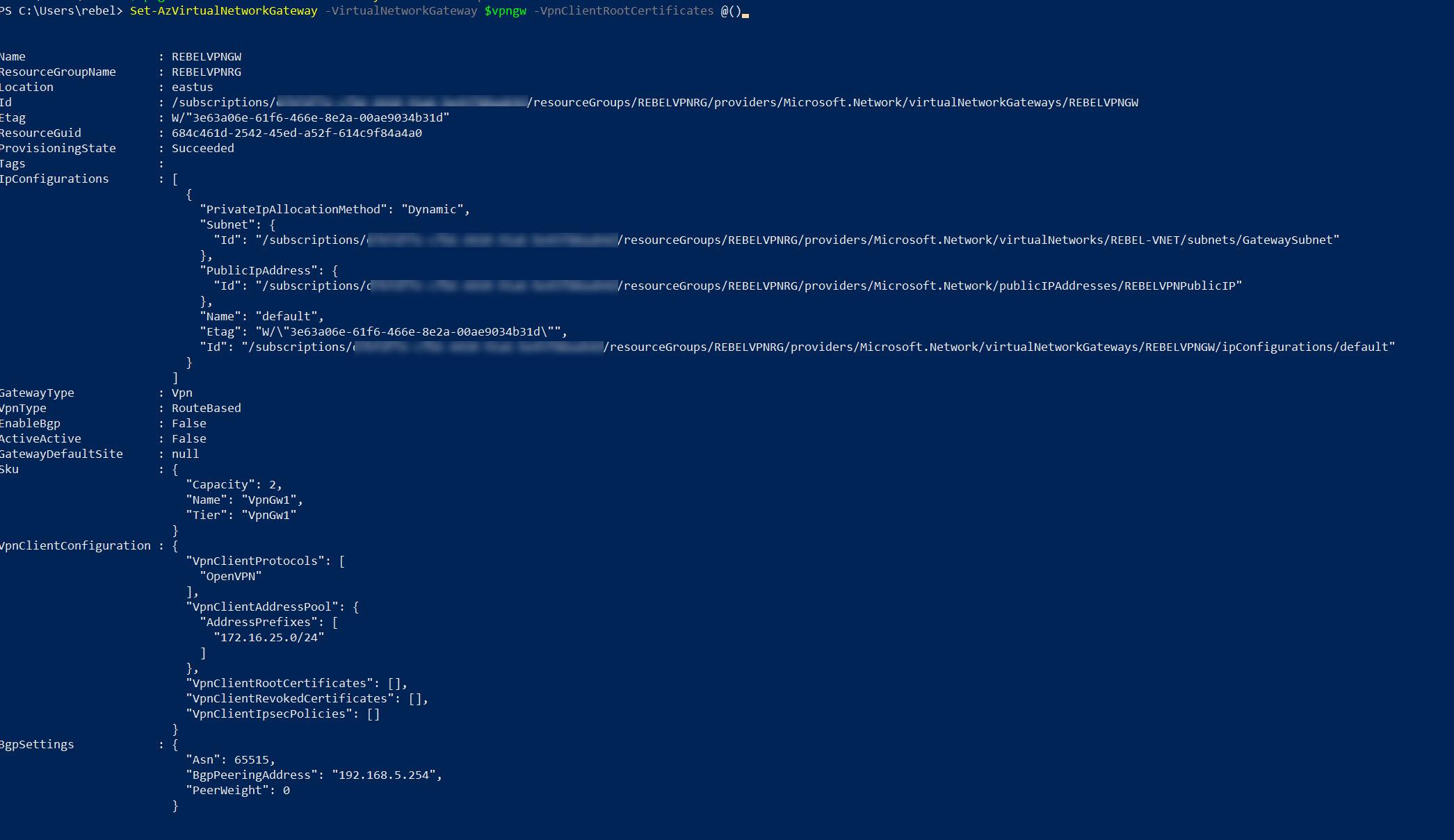 Enable Azure AD authentication for Azure VPN Gateway