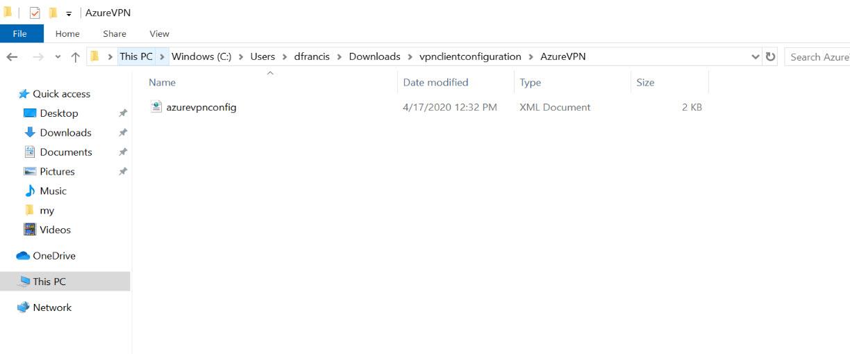 Download VPN profile settings