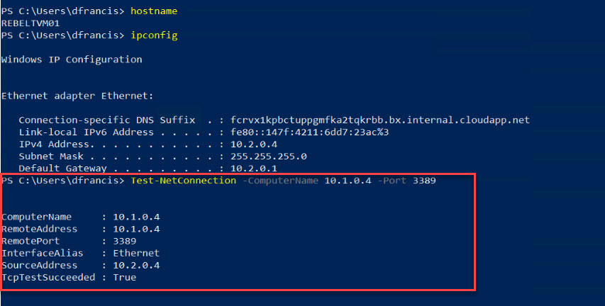 test with new azure firewall rule