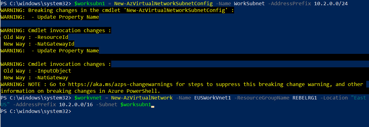 setup azure production network