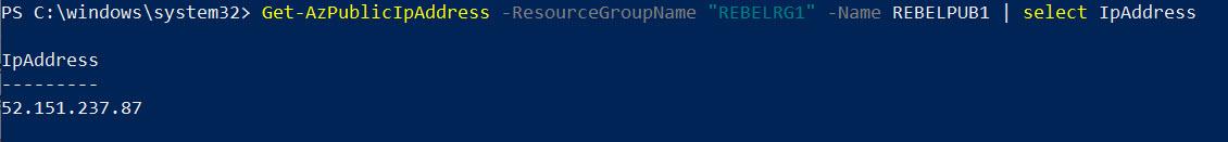 IP Address of the Azure NAT Gateway