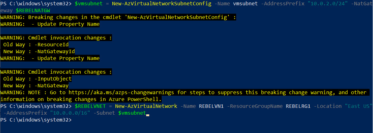 Create Azure Virtual Network