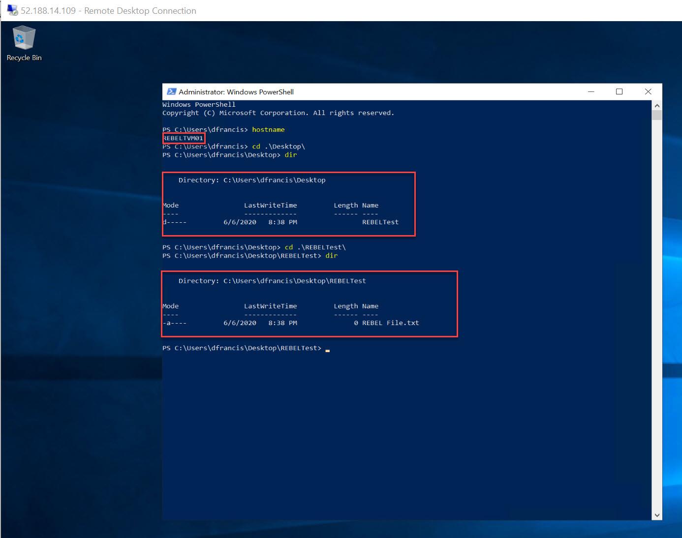 log in to Azure windows virtual machine