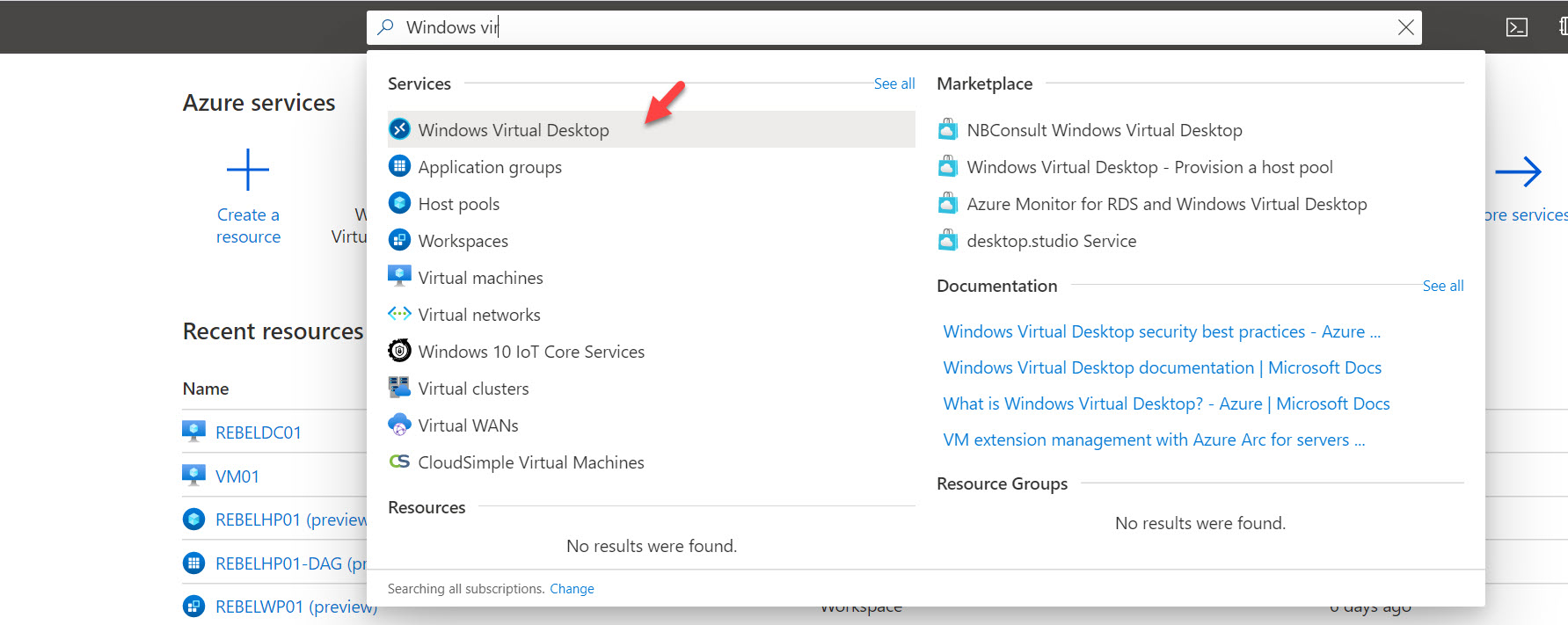 Windows Virtual Desktop azure service