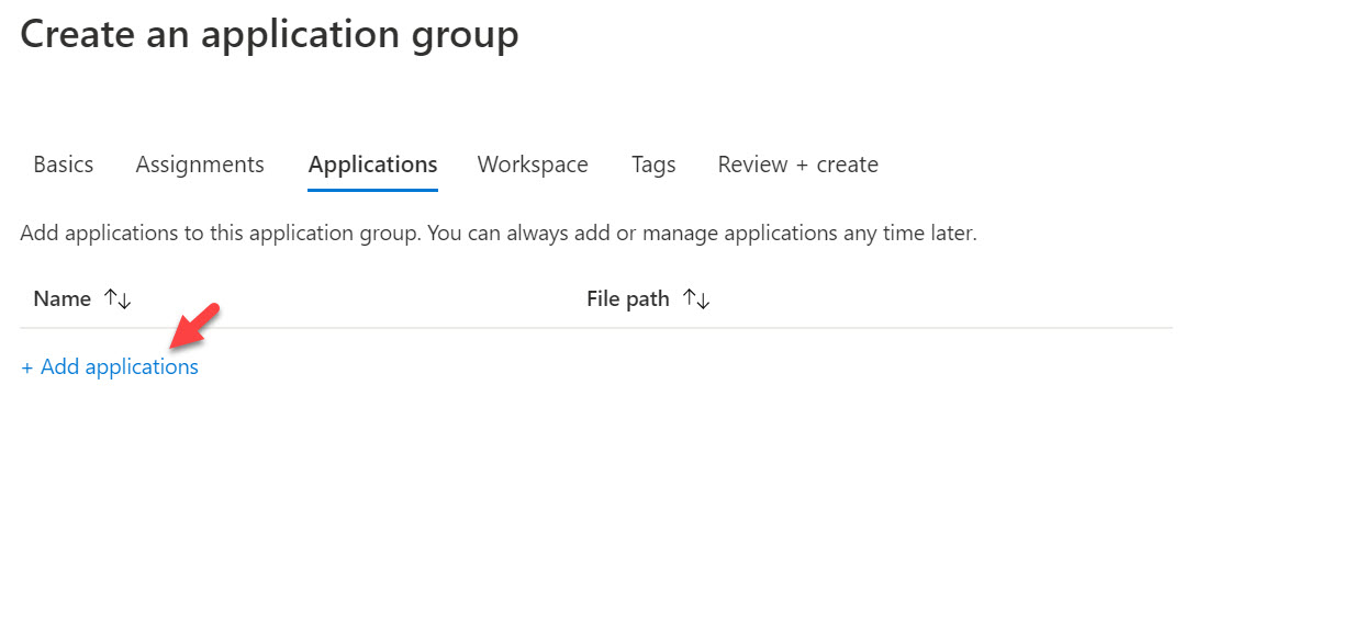 add application to application group
