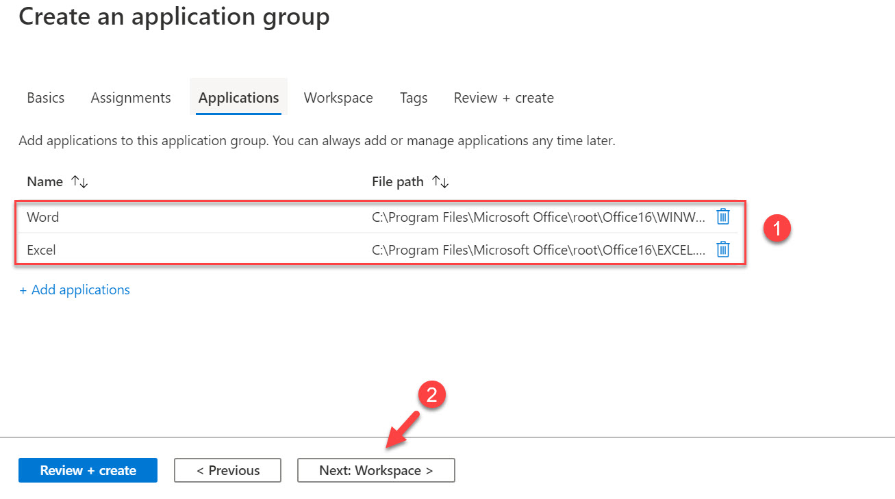 create application group