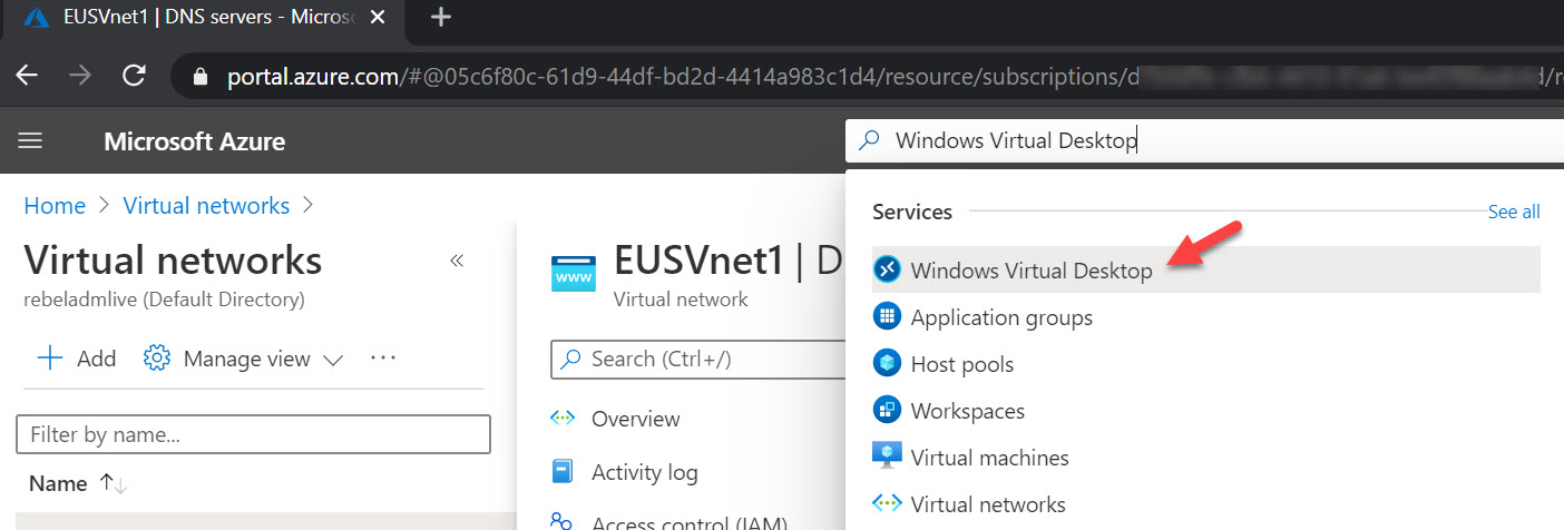 Windows Virtual Desktop service