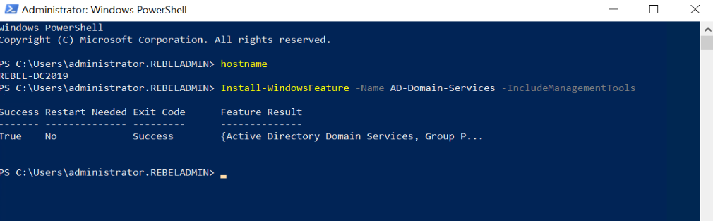 install active directory role