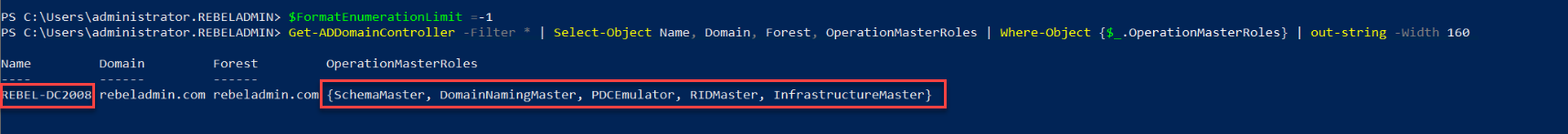 active directory fsmo owner