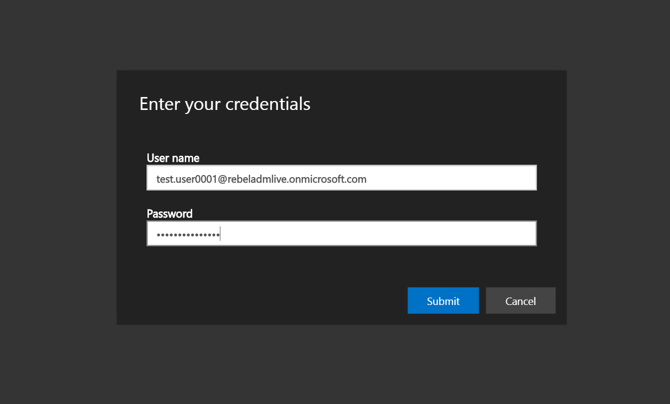 WVD authentication