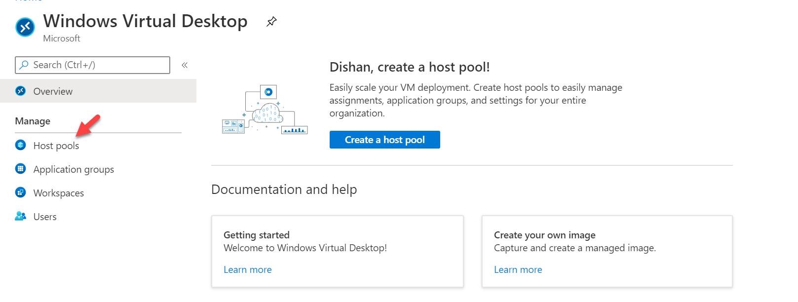 Windows Virtual Desktop host pools