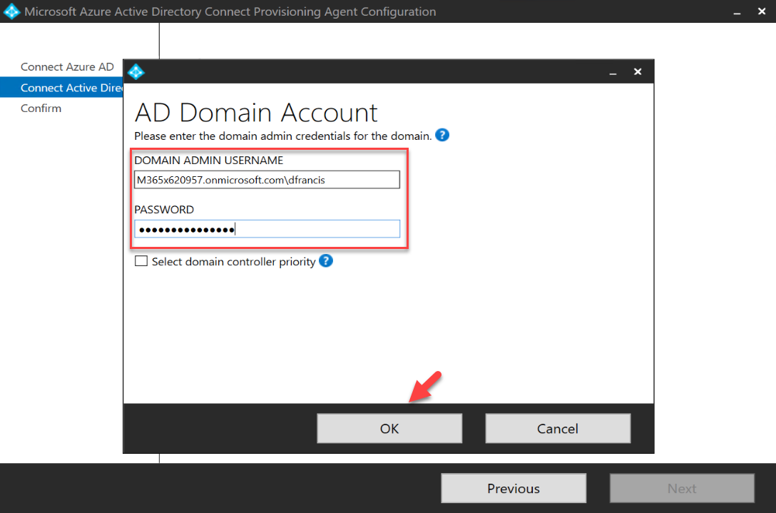 Windows AD domain administrator account details