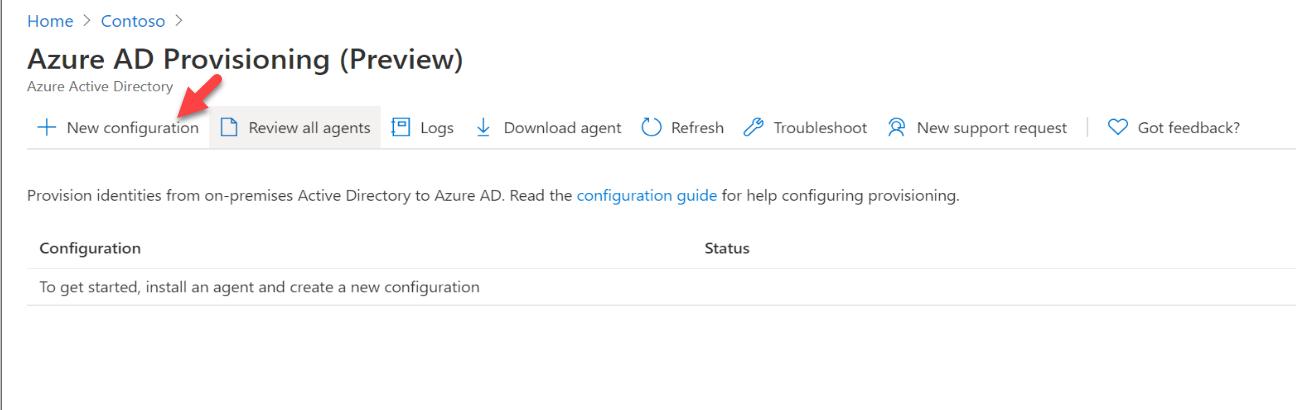 Azure AD Provisioning new configuration