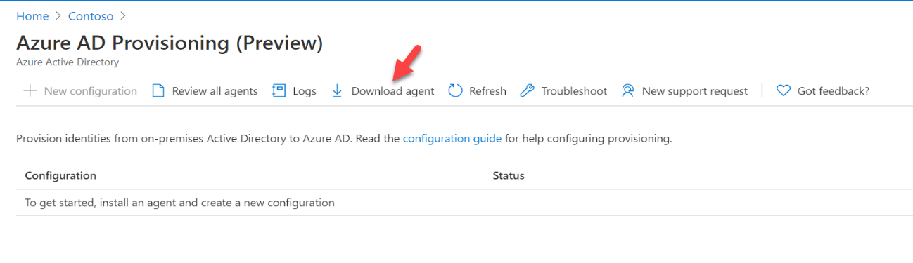 download Azure AD Connect cloud provisioning agents