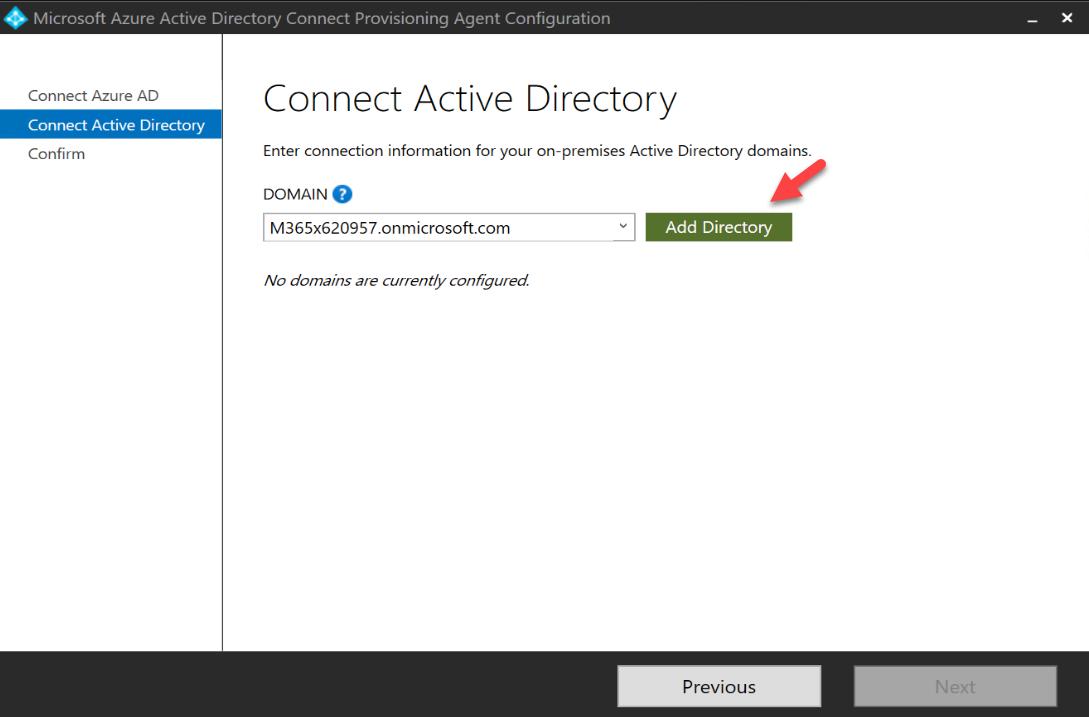 add windows AD directory