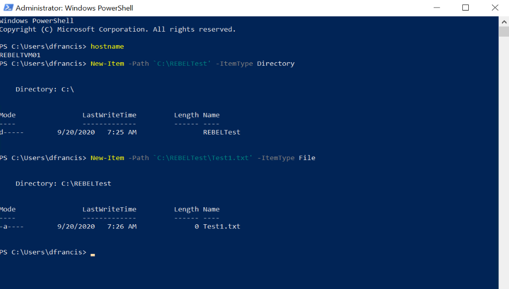 Create test files for Azure replication testing