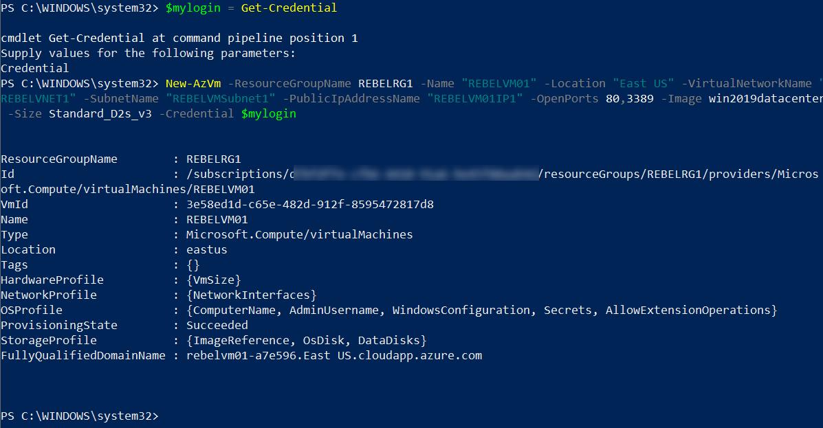 Setup new Azure VM