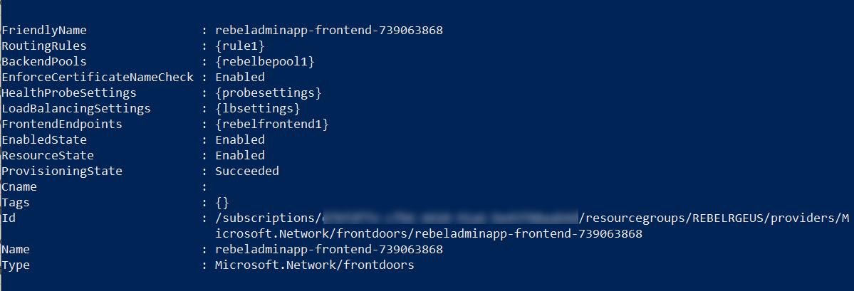 Create Azure Front Door