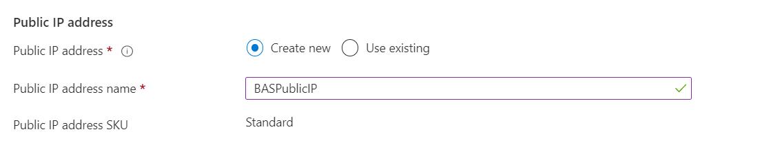 Azure Bastion Public IP Address