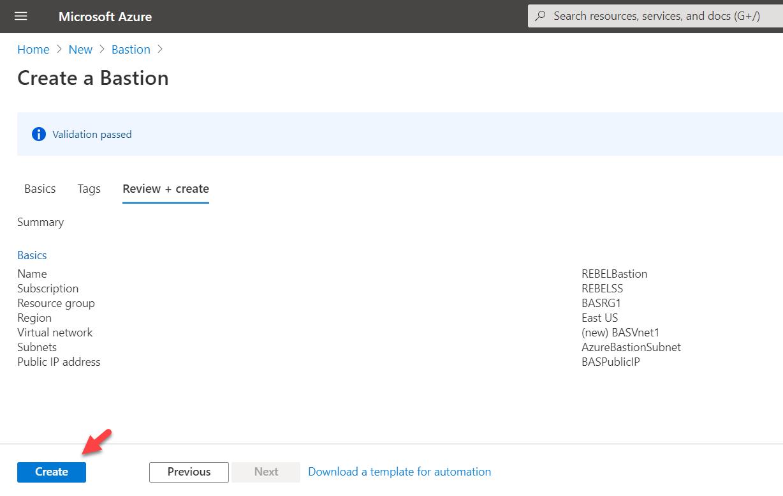 Azure Bastion Configuration Validatation