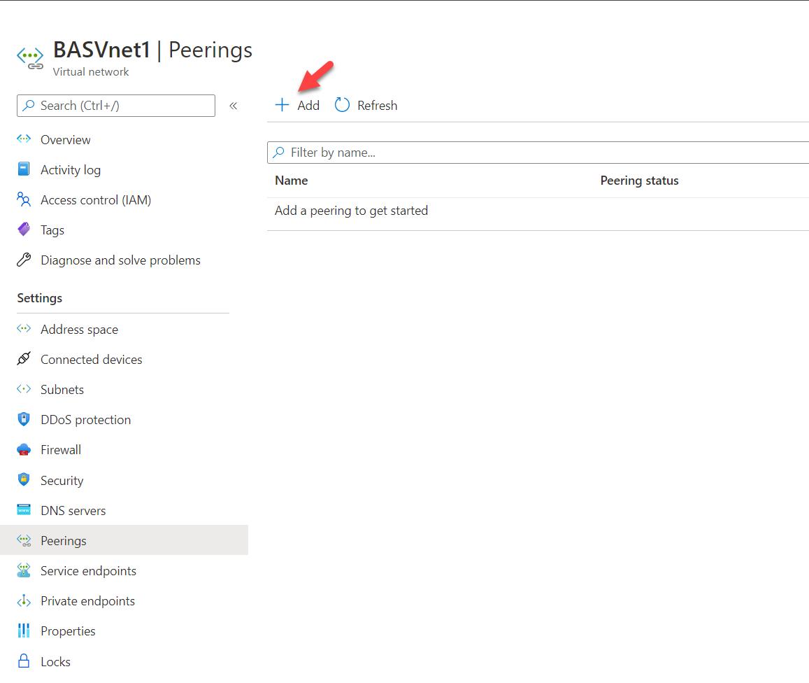 Initiate Azure Virtual Network Peering