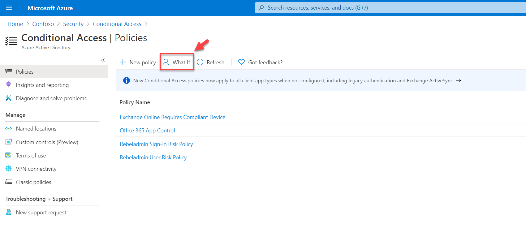 conditional access what if tool