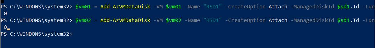 Attach Virtual Disk to Azure VM