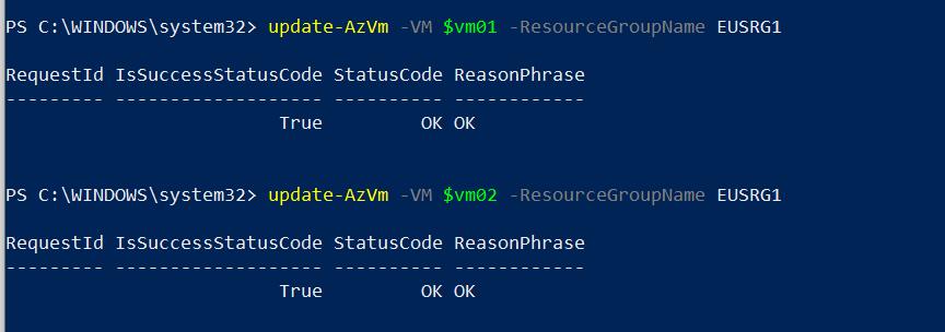 Update Azure VM Configuration