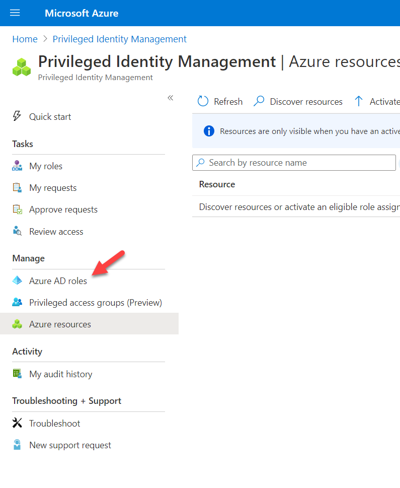 Privileged Identity Management | Azure AD roles