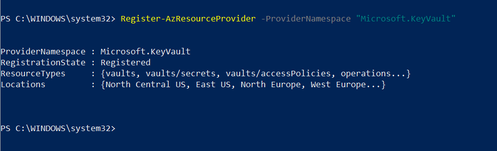 Enable Azure Key Vault Provider