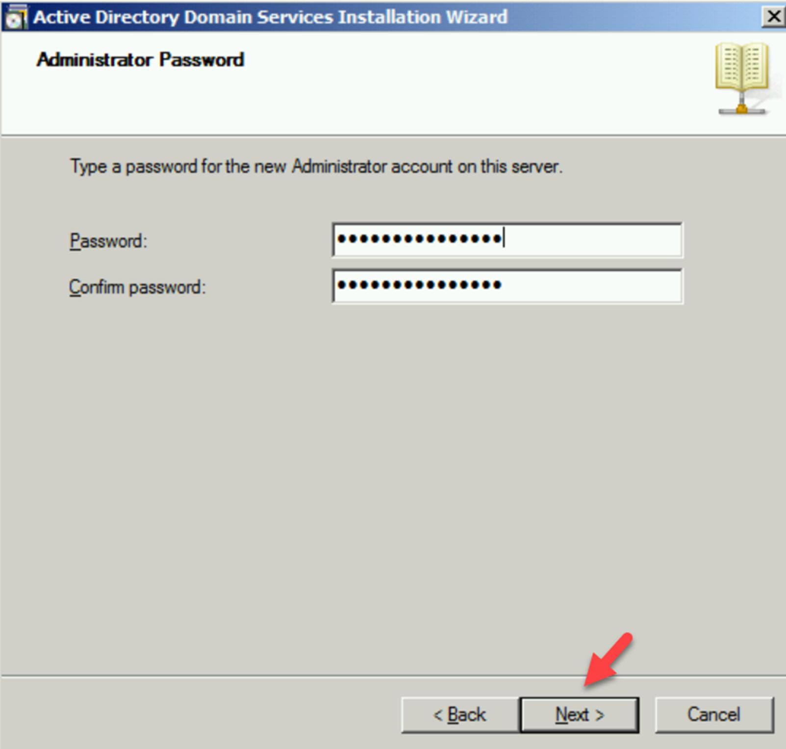 Define Administrator password